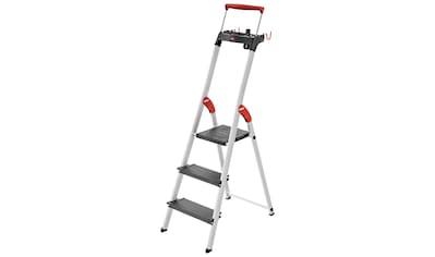 Hailo Stehleiter »L100 TopLine«, Alu-Sicherheits-Stehleiter, 3-stufig kaufen