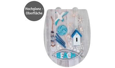 WENKO WC-Sitz »Beach High Gloss«, Thermoplast kaufen