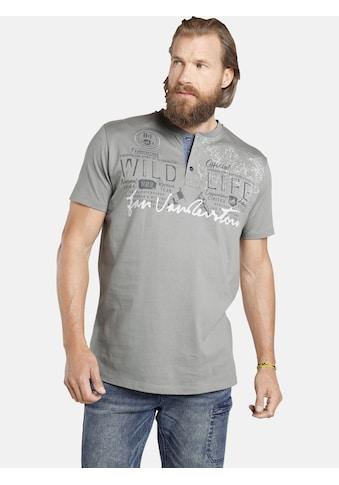 Jan Vanderstorm T-Shirt »REIDAR«, Baumwollshirt mit Knopfleiste kaufen