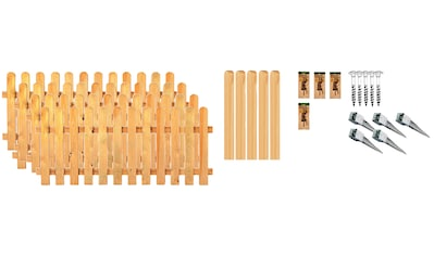 T&J Staketenzaun »Houston 2«, 4 Elemente, LxH: 765x80 cm kaufen