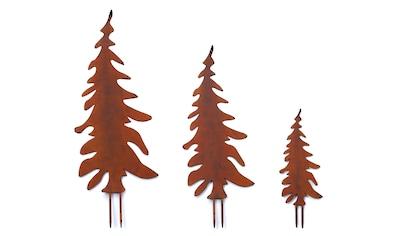 Gartenstecker, »Tannenbaum«, (Set, 3 - tlg.) kaufen