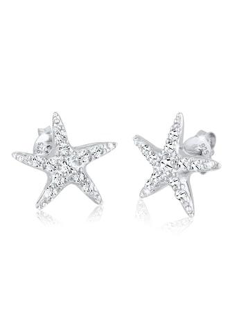 Elli Paar Ohrstecker »Seestern mit Kristallen funkelnd Silber« kaufen