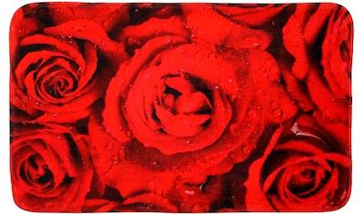 Sanilo Badematte »Rosen«, Höhe 15 mm, schnell trocknend, Memory Schaum kaufen
