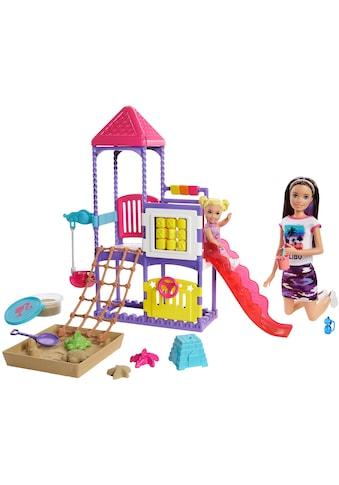 Barbie Spielwelt »Skipper Babysitter, Spielplatz-Spielset«, mit Puppen und formbarem Sand kaufen
