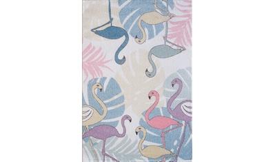 Sanat Kinderteppich »Luna Kids 4609«, rechteckig, 12 mm Höhe, Flamingo Motiv, Kurzflor kaufen