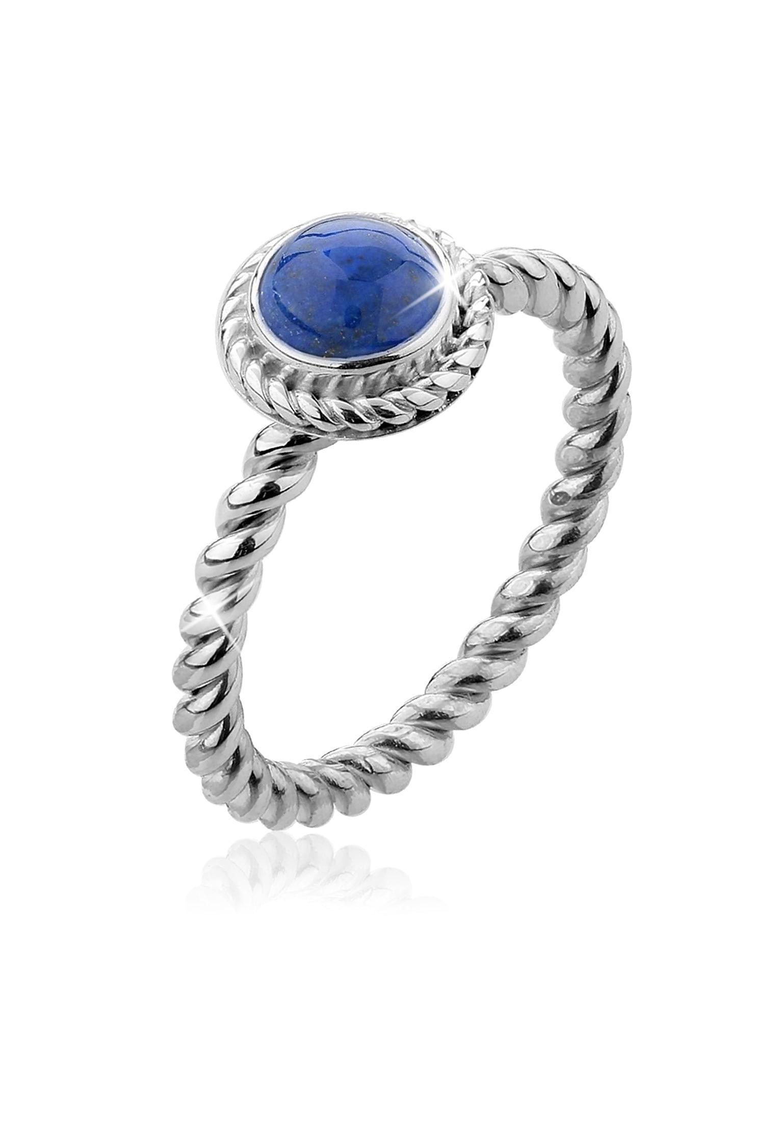 Nenalina Fingerring »Lapis Lazuli Edelstein Sep...