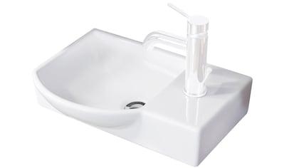 FACKELMANN Waschbecken »Gäste - WC«, Breite 45 cm, für Gäste - WC, Keramik kaufen