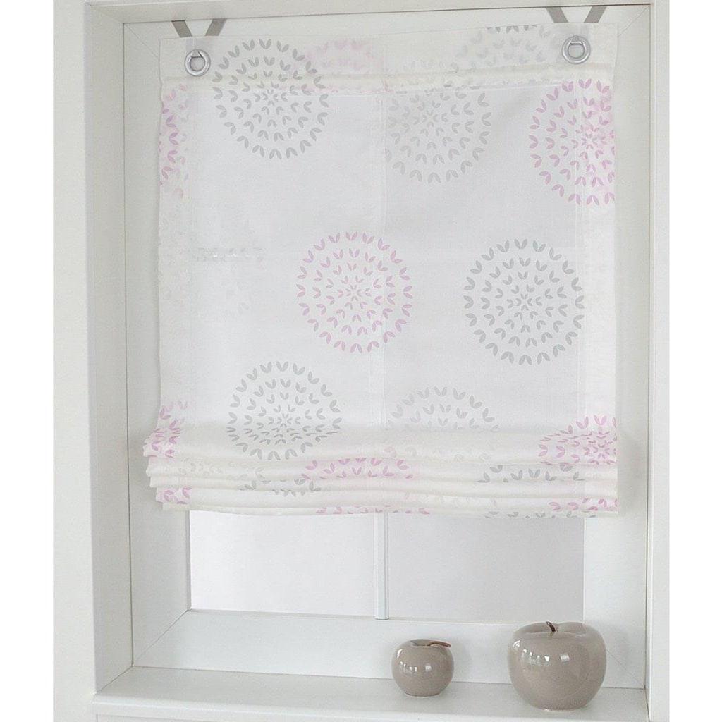 Kutti Raffrollo »Bella«, mit Hakenaufhängung, ohne Bohren, freihängend, mit Ösen, incl. Fensterhaken
