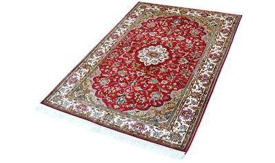 Kayoom Seidenteppich »Kashan 871«, rechteckig, 10 mm Höhe, Einzelstück mit Zertifikat,... kaufen