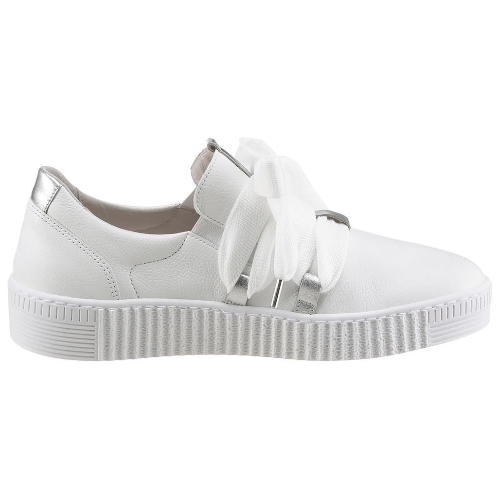 Gabor Slip-On Sneaker, mit aufgesetzter Schnürung