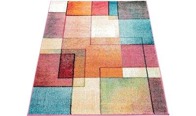 Paco Home Teppich »ECE 933«, rechteckig, 14 mm Höhe, Kurzflor, Karo Design, Wohnzimmer kaufen