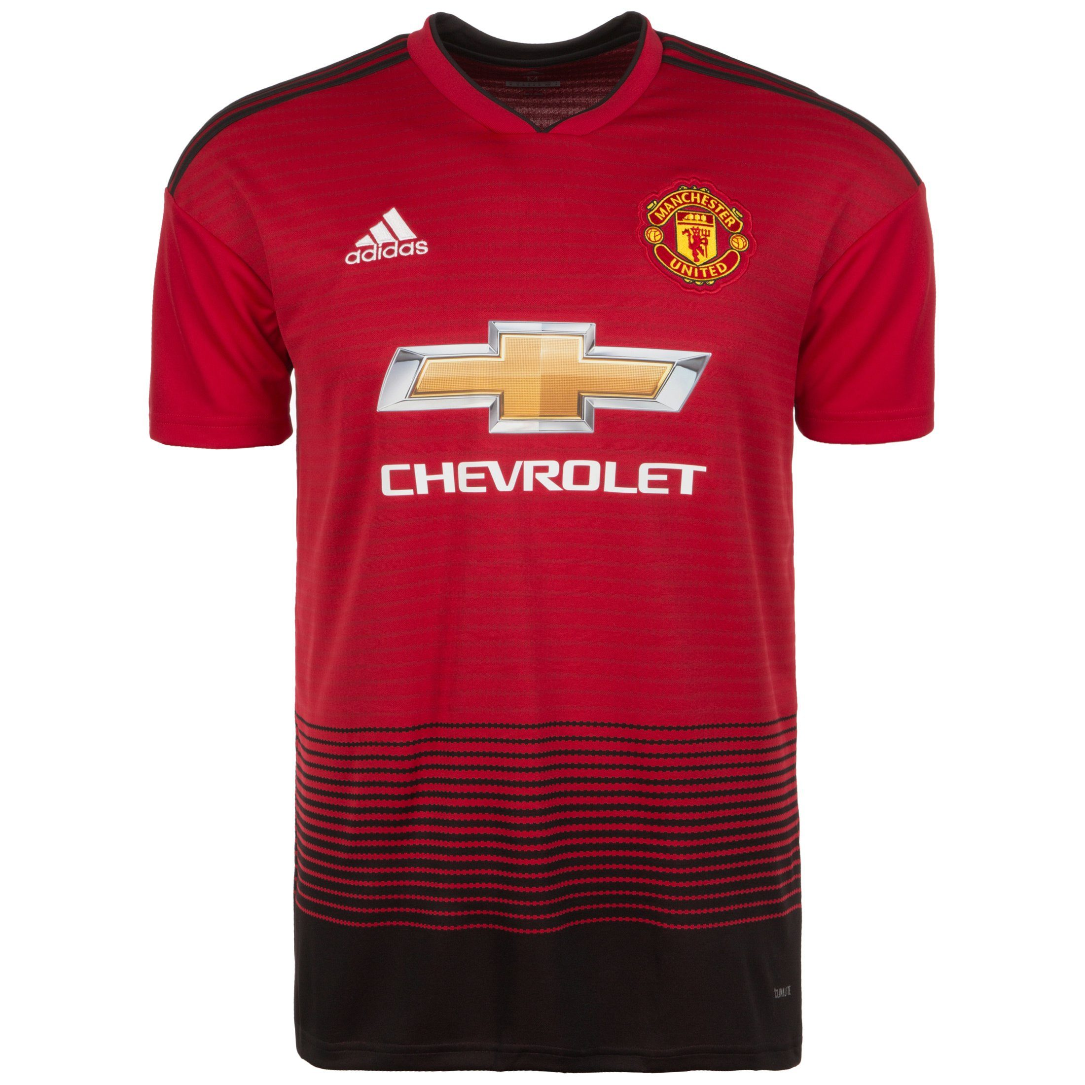 adidas Performance Fußballtrikot Manchester United 18/19 Heim | Sportbekleidung > Trikots > Fußballtrikots | Rot | Trikot - Ab | Adidas Performance