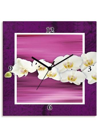 Artland Wanduhr »Orchideen - violett«, lautlos, ohne Tickgeräusche, nicht tickend,... kaufen