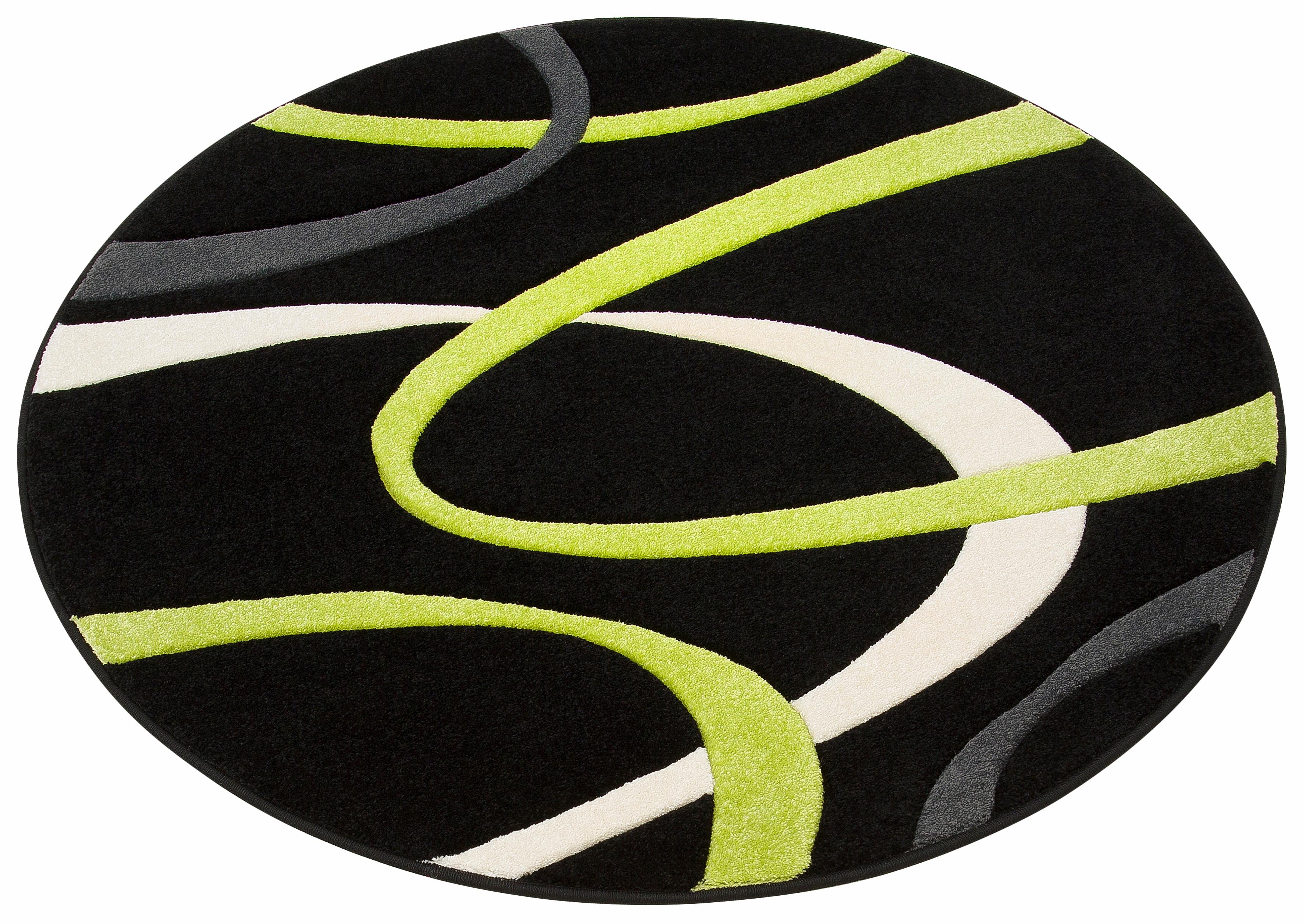 Teppich, »Bilbao«, my home, rund, Höhe 13 mm, maschinell gewebt