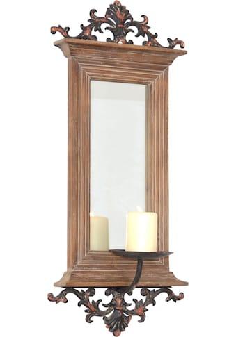 HOFMANN LIVING AND MORE Kerzenhalter, Maße (B/T/H): 26/15/56 cm braun kaufen
