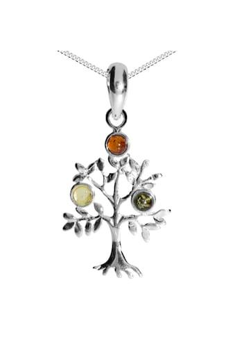 OSTSEE - SCHMUCK Kette mit Anhänger » -  Lebensbaum  -  Silber 925/000  -  Bernstein« kaufen