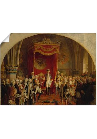 Artland Wandbild »Huldigung Friedrich dem Großen«, Menschen, (1 St.), in vielen Größen... kaufen