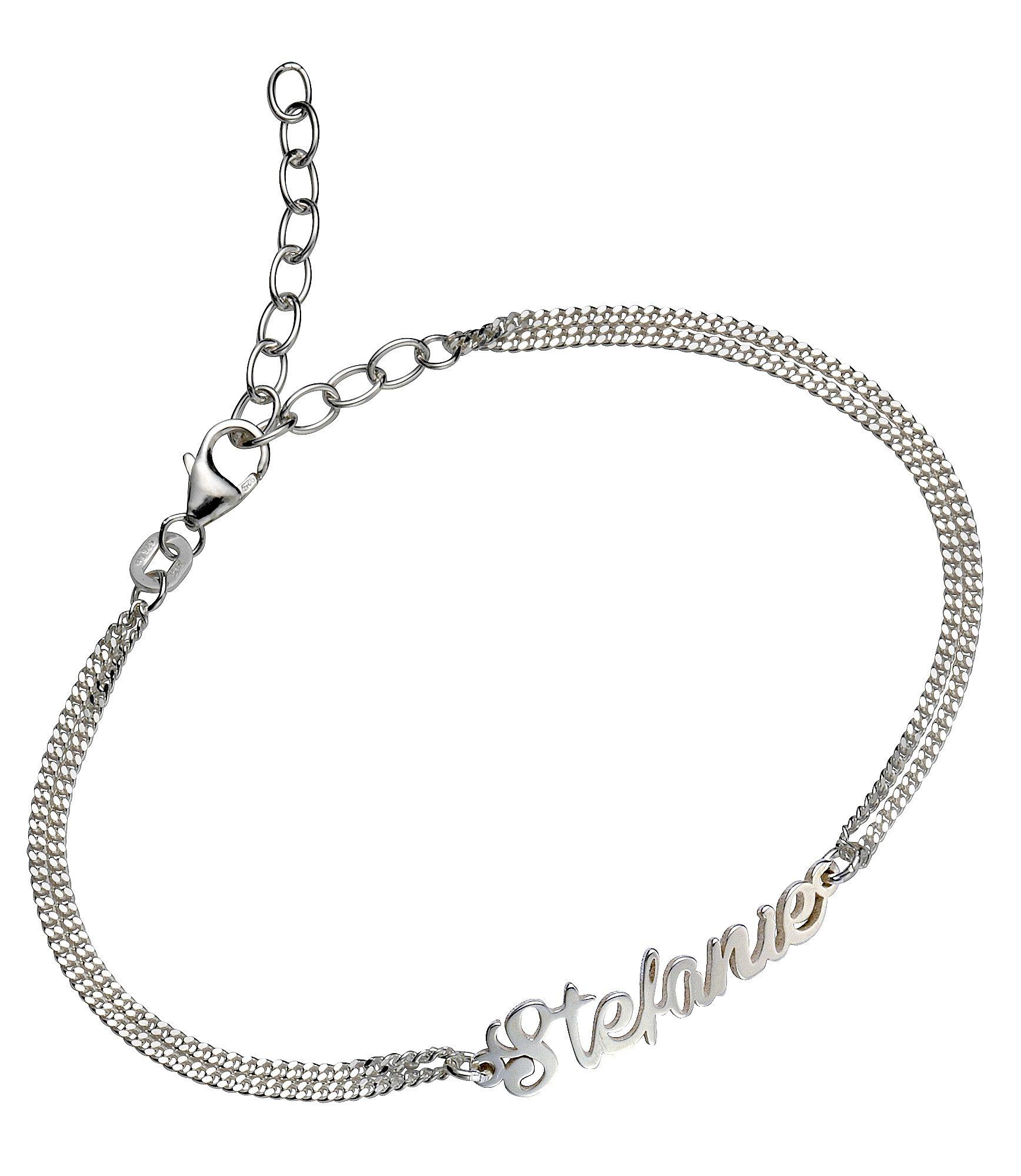 Firetti Armband Namenskette als Armband in Panzerkettengliederung | Schmuck > Halsketten > Namensketten | Firetti