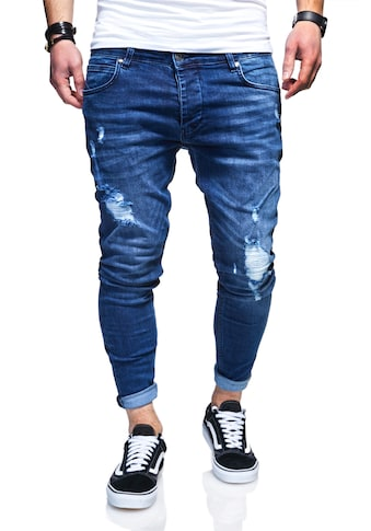 behype Slim-fit-Jeans »ODIN«, mit Destroyed-Parts kaufen