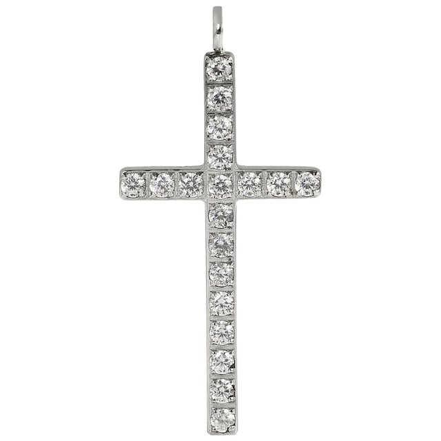 Firetti Kettenanhänger »Kreuz, Glaube, glänzend, massiv«, mit Zirkonia, Made in Germany