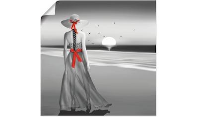 Artland Wandbild »Ein Blick zurück aufs Meer«, Frau, (1 St.), in vielen Größen & Produktarten - Alubild / Outdoorbild für den Außenbereich, Leinwandbild, Poster, Wandaufkleber / Wandtattoo auch für Badezimmer geeignet kaufen