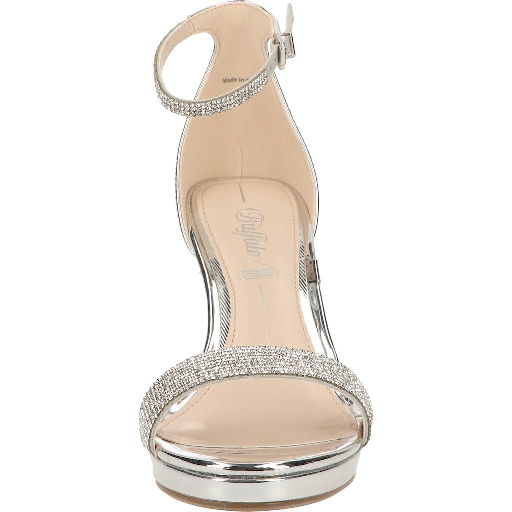 Buffalo High-Heel-Sandalette »Lederimitat«