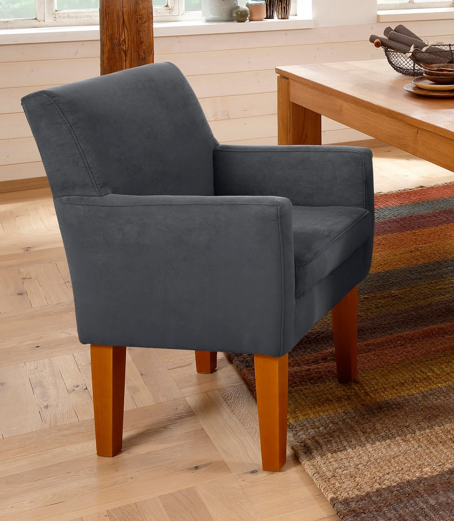 Home affaire Sessel Fehmarn komfortable Sitzhöhe von 54 cm in 3 verschiedenen Bezugsqualitäten
