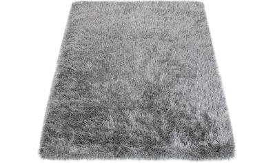 Paco Home Hochflor-Teppich »Glamour 300«, rechteckig, 70 mm Höhe, Shaggy mit weichem Glanz Garn in Uni, Kundenliebling mit 4,5 Sterne-Bewertung!, Wohnzimmer kaufen