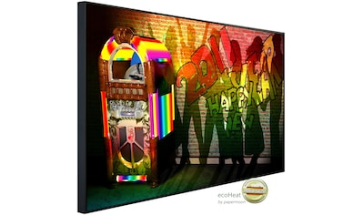 Papermoon Infrarotwandheizung »Jukebox mit Graffiti«, sehr angenehme Strahlungswärme kaufen