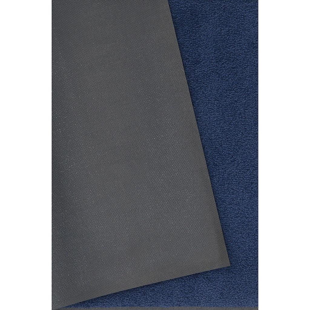 DELAVITA Fußmatte »Lavea«, rechteckig, 9 mm Höhe, Fussabstreifer, Fussabtreter, Schmutzfangläufer, Schmutzfangteppich, Schmutzmatte, Türmatte, Türvorleger, Uni Schmutzfangmatte, In- und Outdoor geeignet