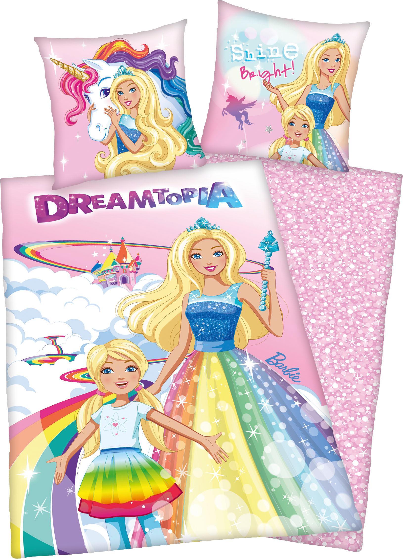 Kinderbettwäsche Barbie Dreamtopia Mattel | Kinderzimmer > Textilien für Kinder > Kinderbettwäsche | Rosa | Mattel