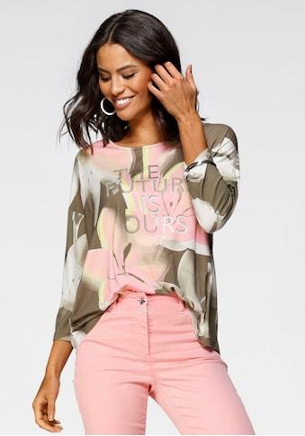 GERRY WEBER Rundhalsshirt, mit dekorativem Allover-Print im floralem Design kaufen