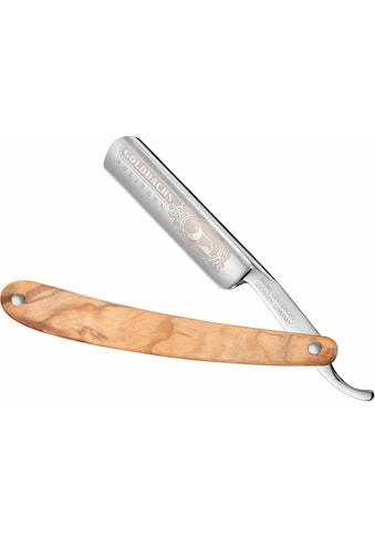 Golddachs Rasiermesser, mit Olivenholzgriff kaufen