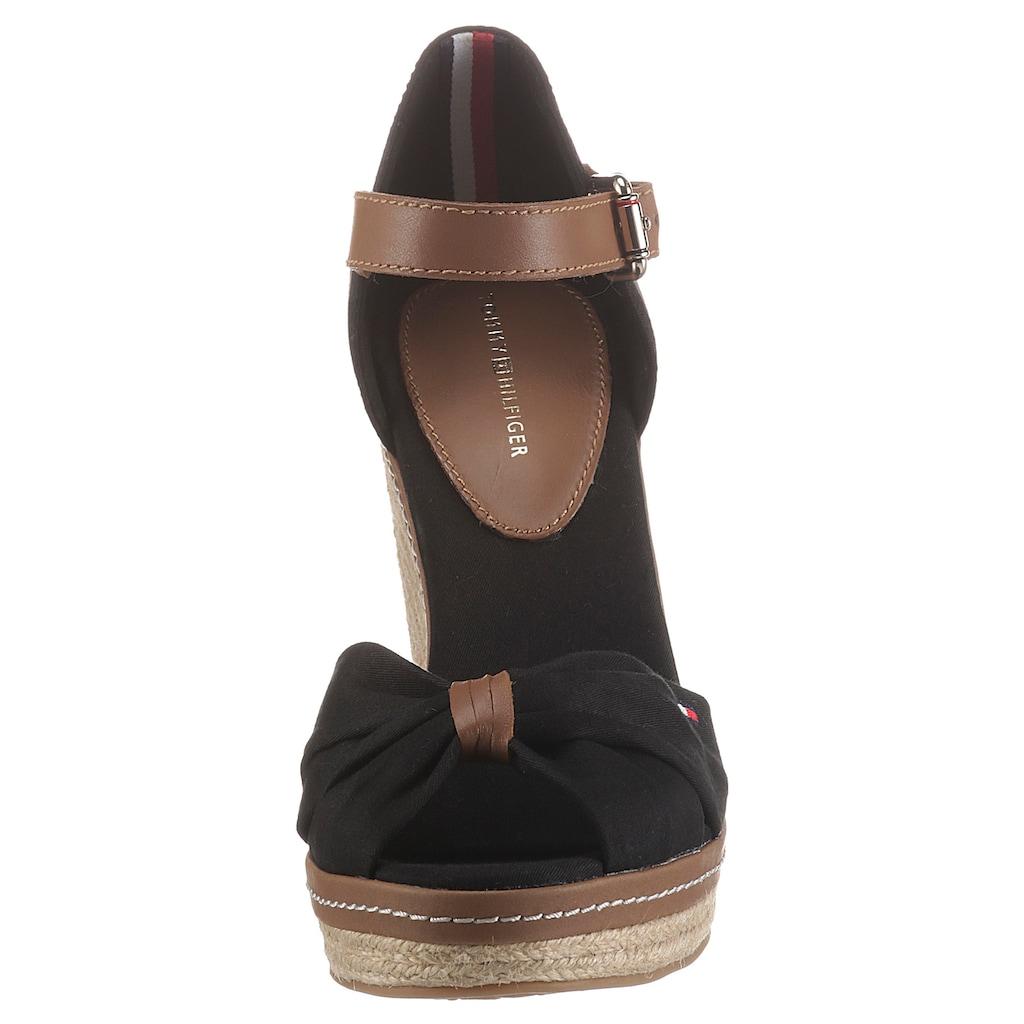 TOMMY HILFIGER High-Heel-Sandalette »ICONIC ELENA SANDAL«, mit verstellbarer Schnalle