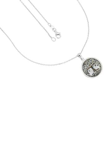 Firetti Kette mit Anhänger »Baum des Lebens, rund, glänzend, rhodiniert, diamantiert« kaufen