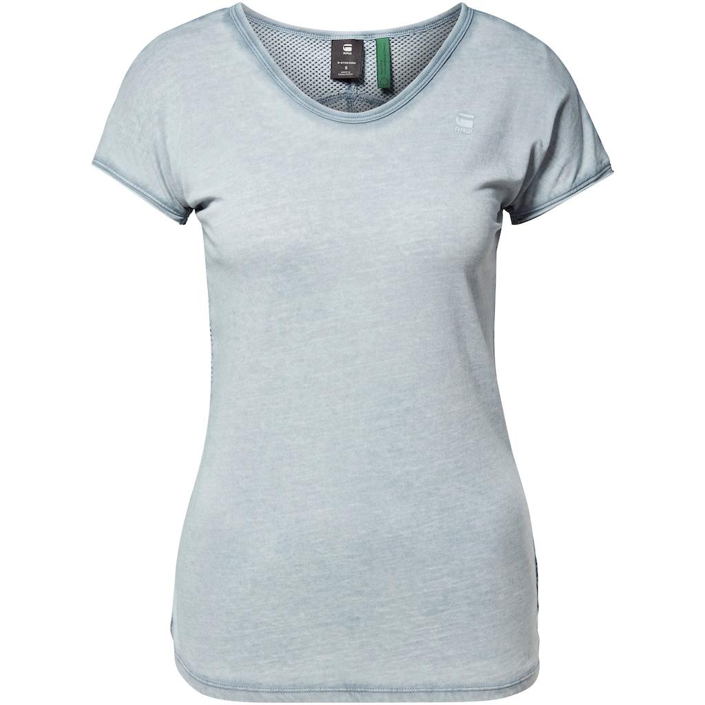 G-Star RAW V-Shirt »Eyben mesh«, mit V-Ausschnitt