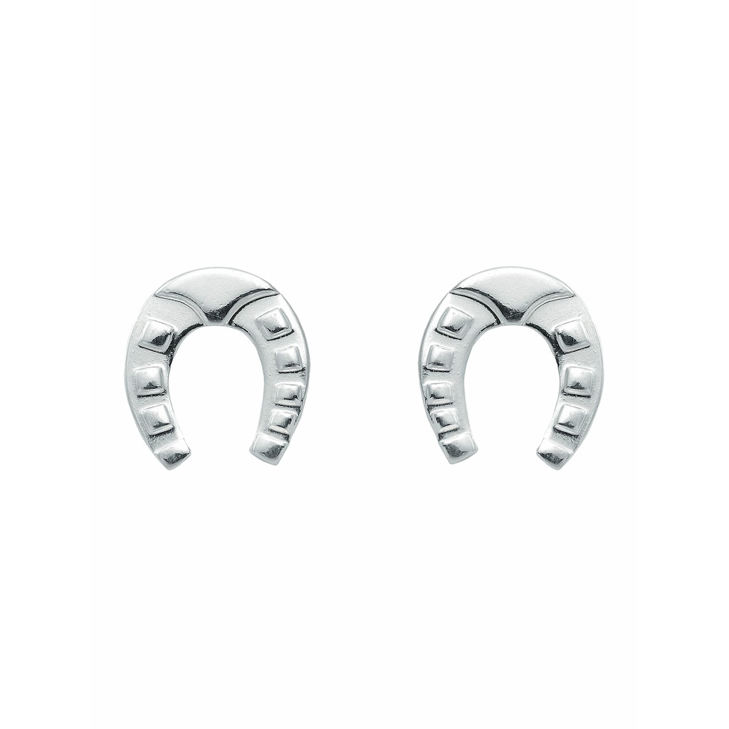 Adelia´s Paar Ohrstecker »925 Silber Ohrringe / Ohrstecker Hufeisen«, Silberschmuck für Damen