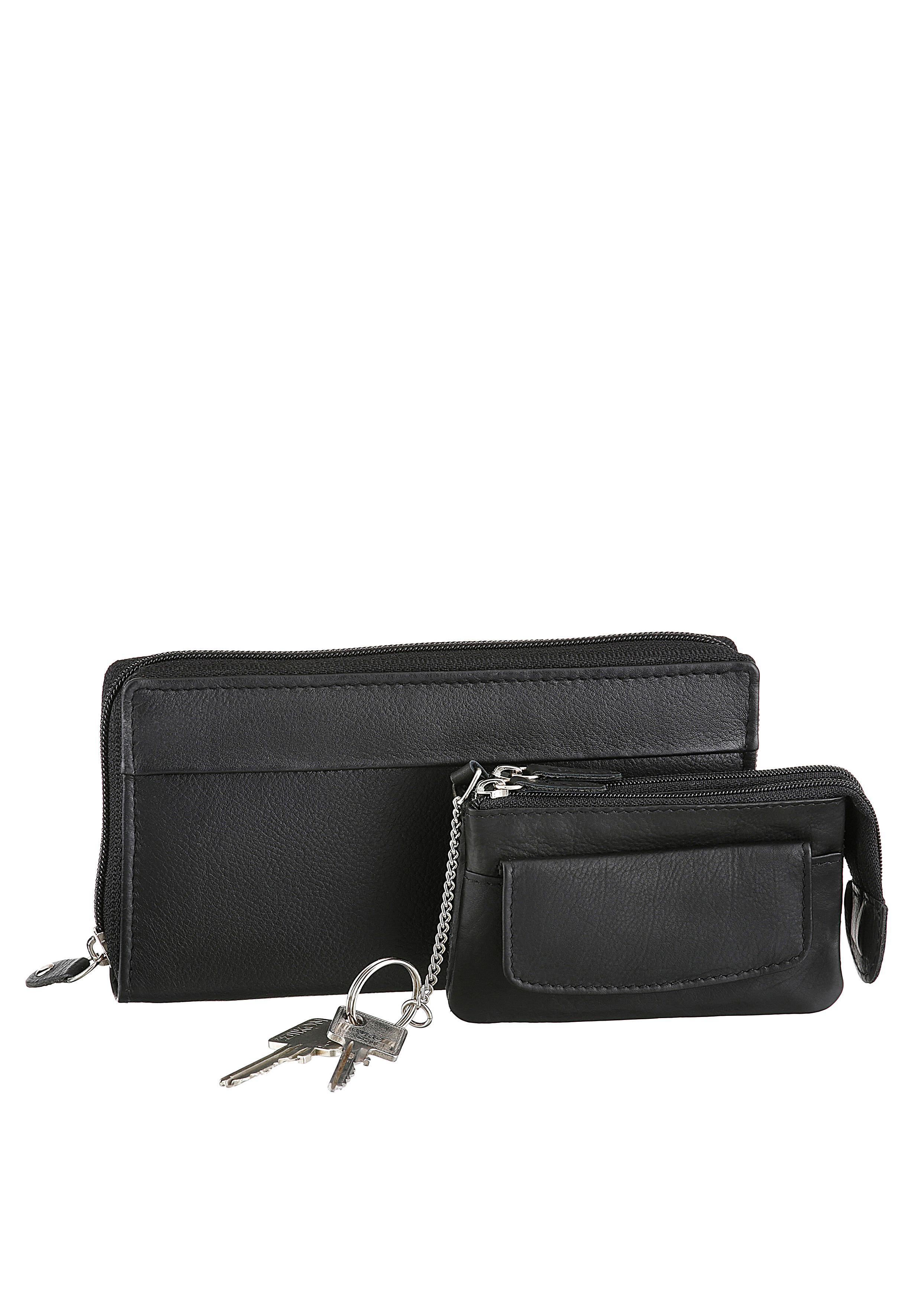 J.Jayz JJayz Geldbörse (Set 2 tlg mit Schlüsselanhänger) Damenmode/Schmuck & Accessoires/Taschen/Geldbörsen