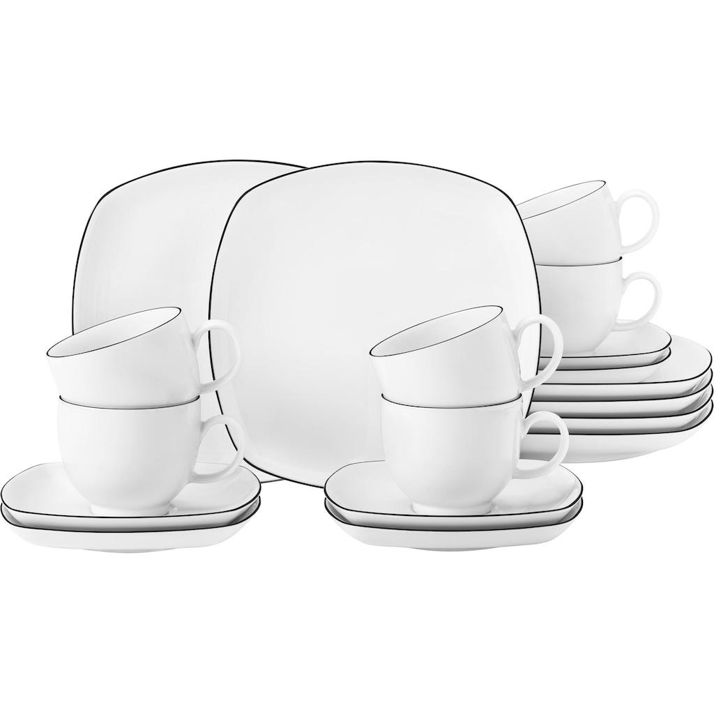 Seltmann Weiden Kaffeeservice »Lido«, (Set, 18 tlg.)