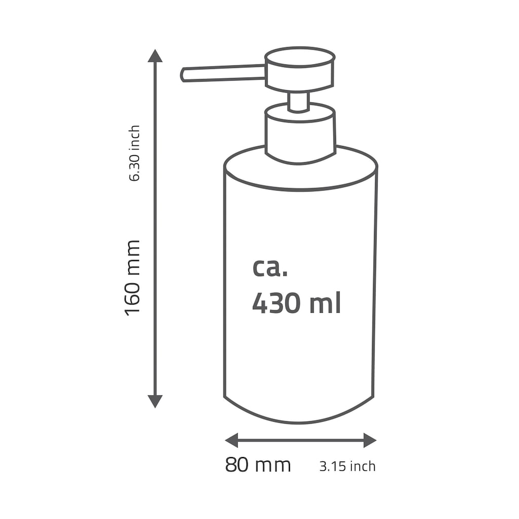 Ridder Seifenspender »Brick«, 430 ml