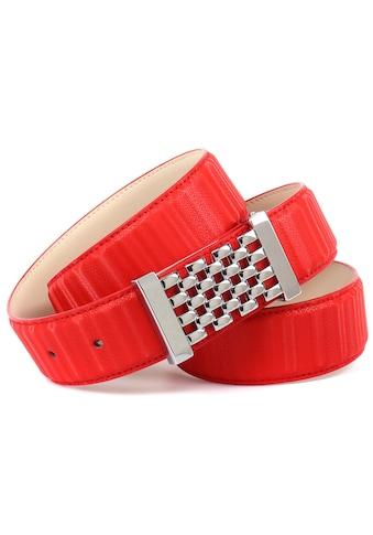 Anthoni Crown Ledergürtel, in schillernder 3D-Optik mit silberfarbener Koppelschließe kaufen