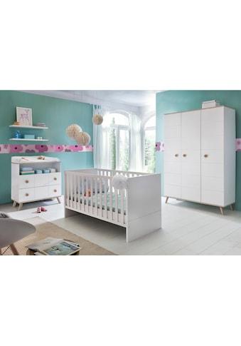 Babyzimmer-Komplettset »Cannes«, (Set, 3 tlg.), Bett + Wickelkommode + 3 trg. Schrank kaufen
