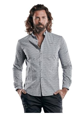 emilio adani bedrucktes Hemd mit smarten Manschetten kaufen