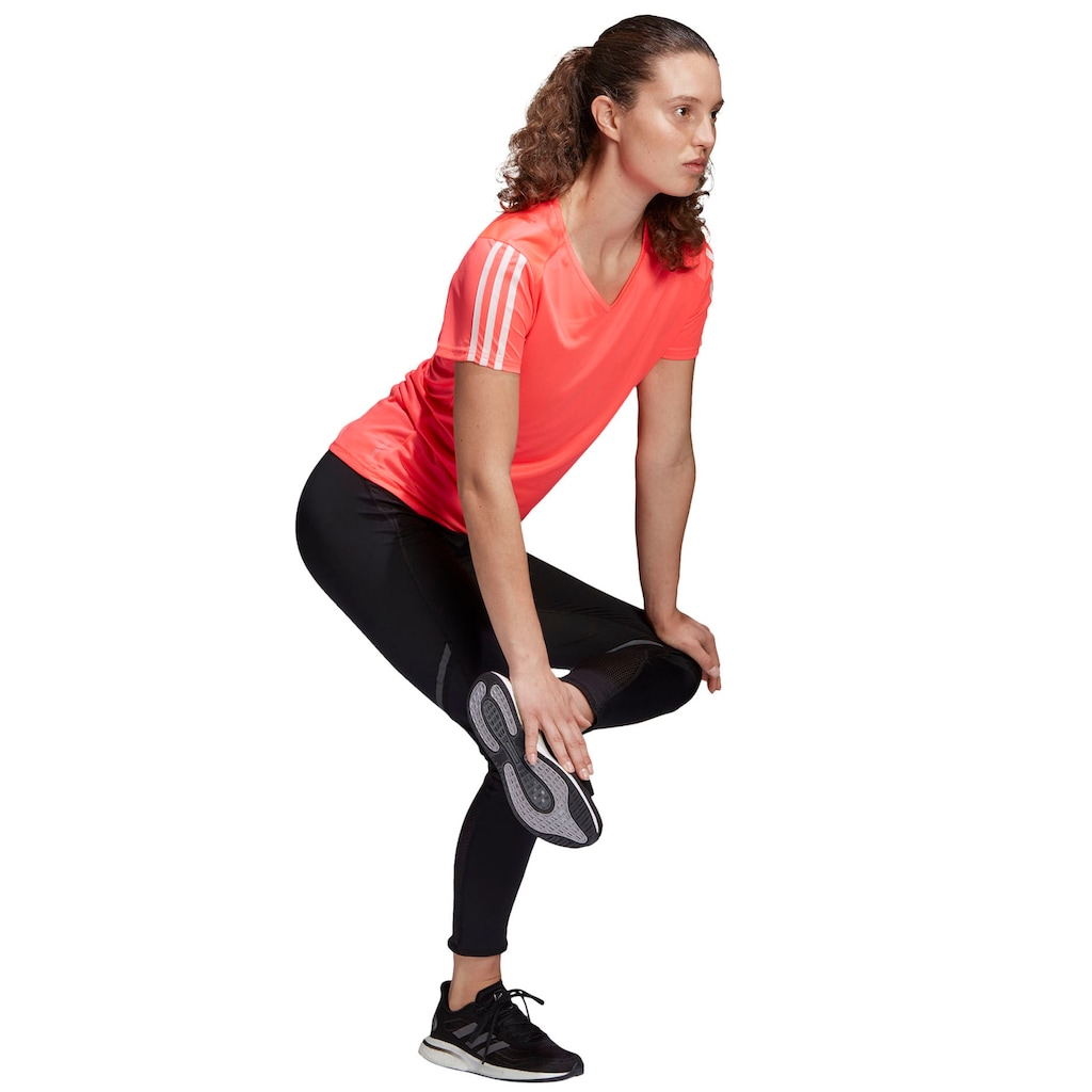 adidas Performance Laufshirt »RUNNING 3-STREIFEN T-SHIRT«