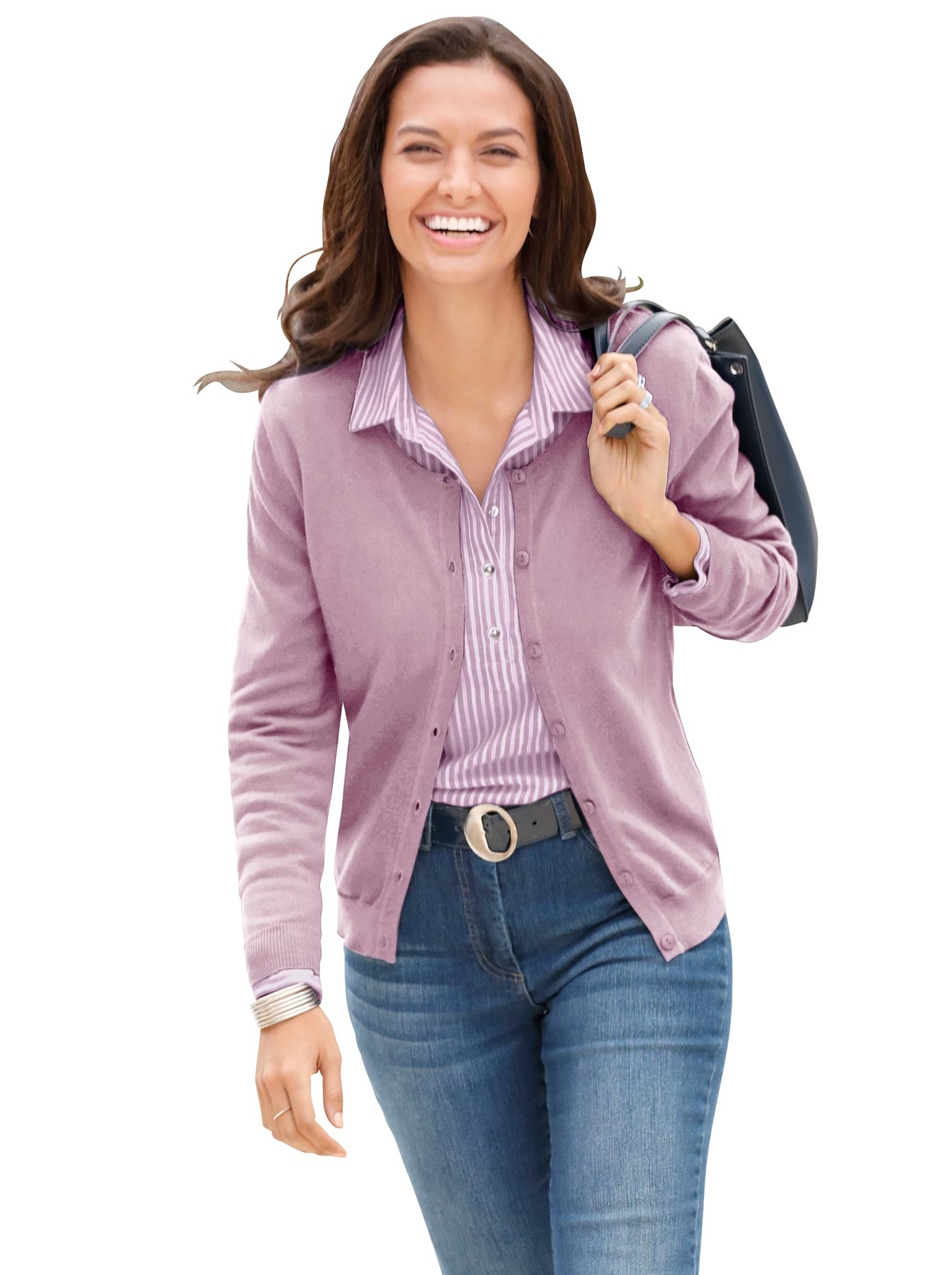 Casual Looks Bluse aus kuscheligem Flanell