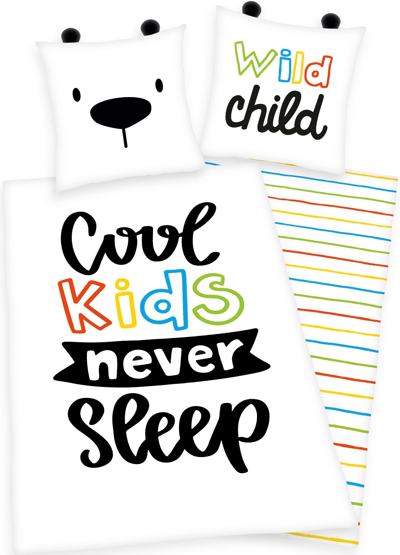 Kinderbettwäsche Cool kids never sleep Herding Young Collection
