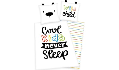 Kinderbettwäsche »Cool kids never sleep«, Herding Young Collection kaufen