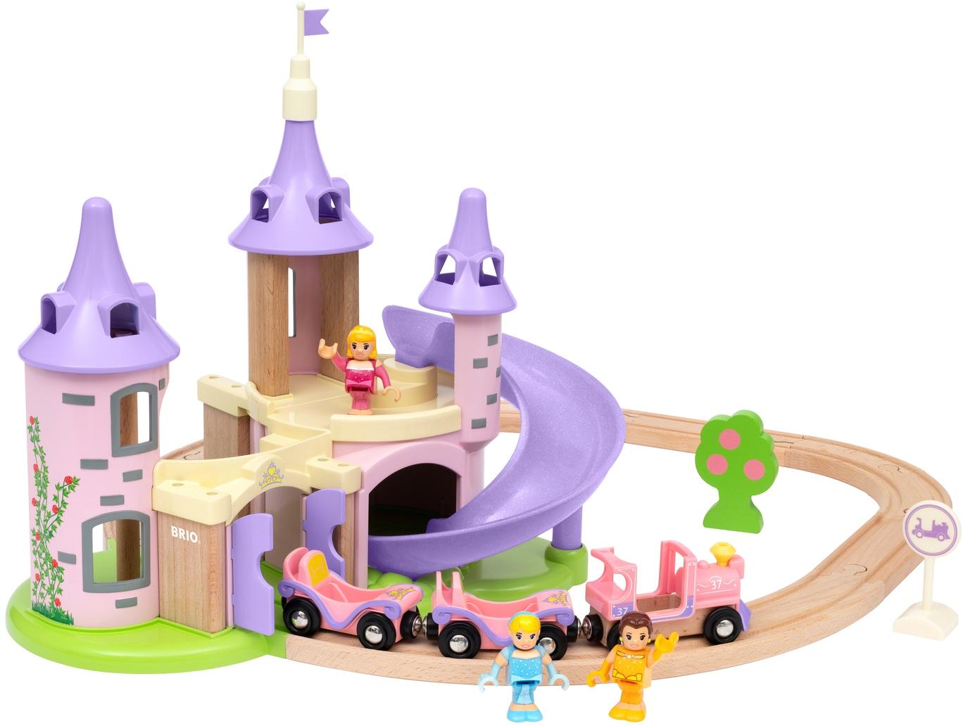 BRIO Spielzeug-Eisenbahn Disney Princess Traumschloss Set bunt Kinder Kindereisenbahnen Autos, Eisenbahn Modellbau