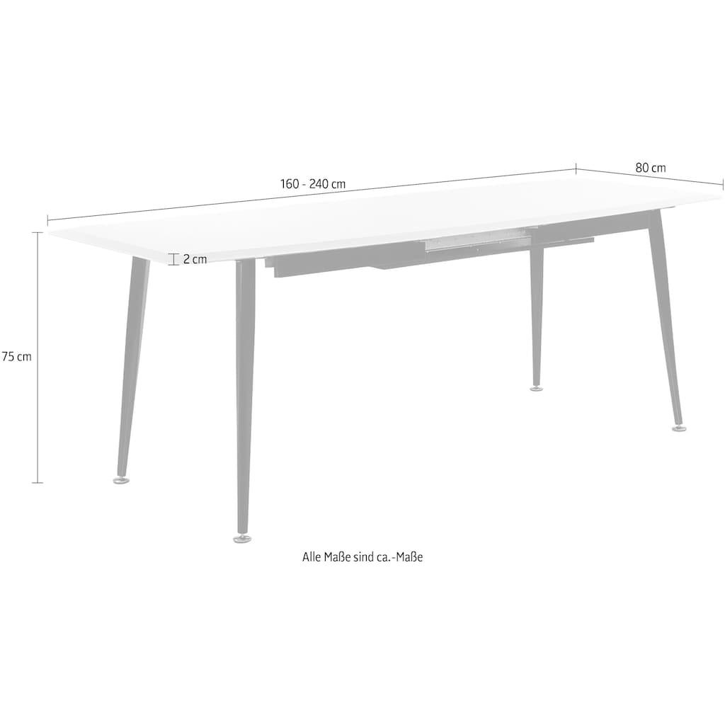 Jockenhöfer Gruppe Esstisch, Breite 160-200-240 cm