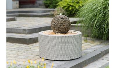 Ubbink Brunnenumrandung »DecoWall Wicker 7«, ØxH 72,5x38,5 cm, grau kaufen